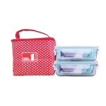 Combo túi đựng cơm + 2 hộp đựng thực phẩm Glasslock 400ml