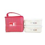 Combo túi đựng cơm + 2 hộp đựng thực phẩm kova 400ml-(Hết hàng)